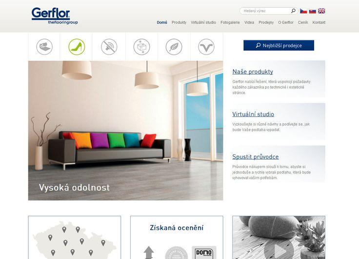Nový web špičkové francouzské podlahářské firmy.