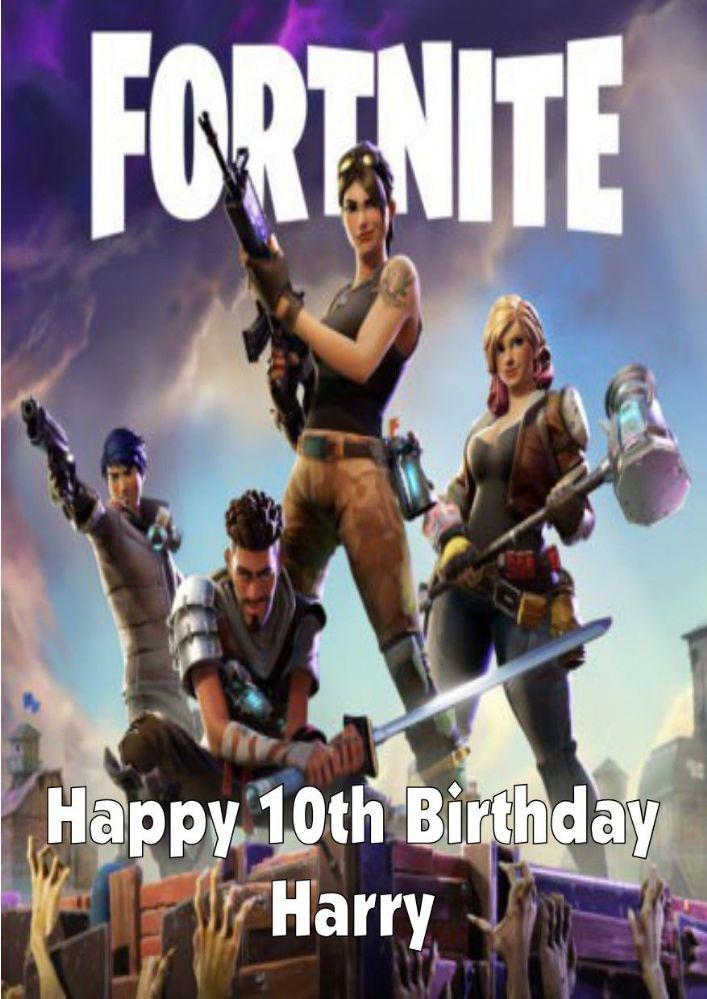 Effortless Image Within Fortnite Birthday Card Printable Birthday Card Printable Fortnite Epic Games