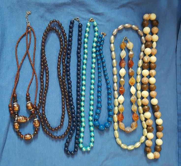 VTG Beaded Necklace Lot, mixed materials, pop beads, seed beads | Jewelry & Watches, Fashion Jewelry, Mixed Items & Lots | eBay!