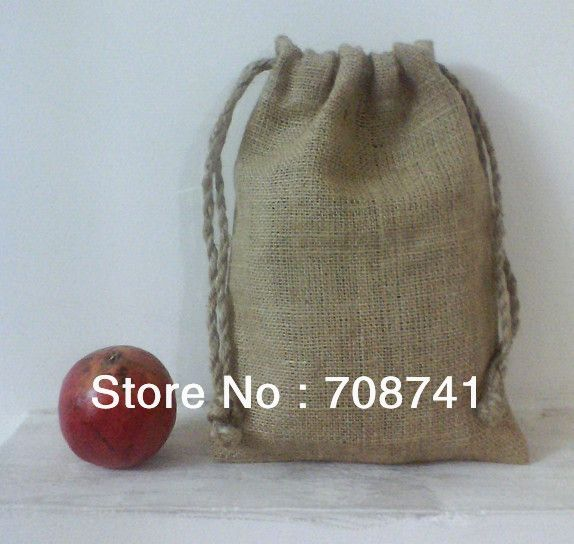 "Aliexpress.com : Buy SIZE:20x30cm(8""x12""), Free Shipping, Nature jute burlap drawstring bag for promotion, Custom logo and bag acceptable from Reliable Packaging Bags suppliers on LIVE GREEN BAGS $169.00"
