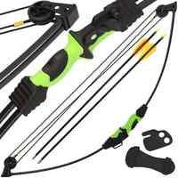 Junior Master Archer Compound Archery 12lb Bow And Arrow Set Includes Quiver