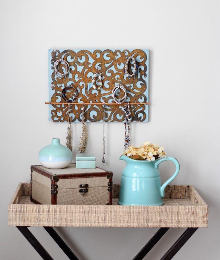 die besten 25 schmuckhalter selbst machen ideen auf pinterest schmuckhalter diy schmuck. Black Bedroom Furniture Sets. Home Design Ideas