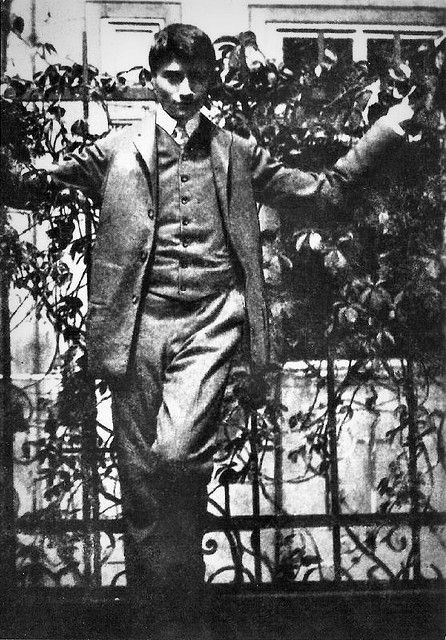 Young Franz Kafka.
