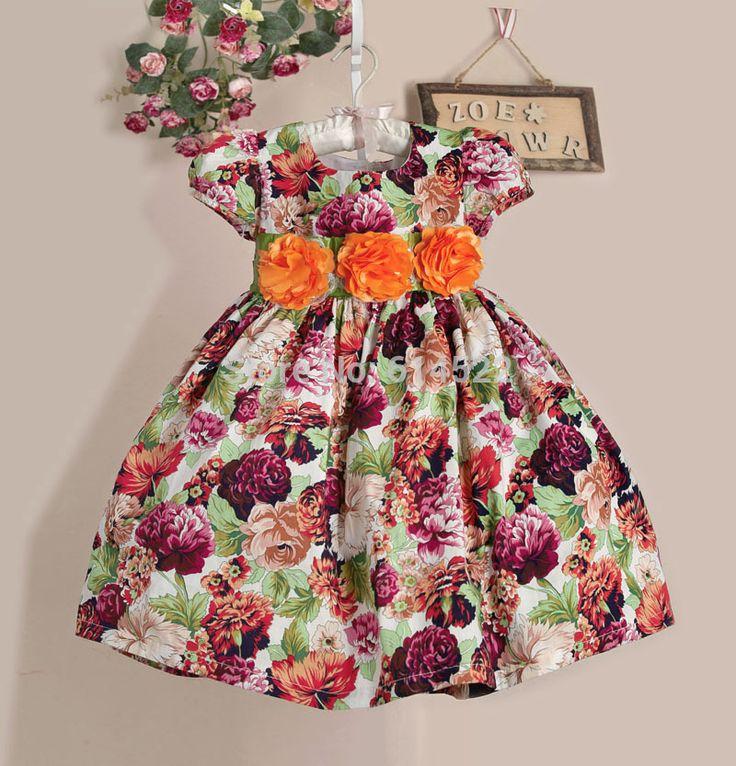 2015 новый роза цветок девочки платья три с бантом девушка ну вечеринку платье красный и фиолетовый летнее платье для 2 7Y vestido infantil, принадлежащий категории Платья и относящийся к Детские товары на сайте AliExpress.com | Alibaba Group