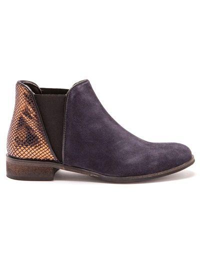 Balsamik - Boots cuir bimatière aspect python Beige vGQpLZ
