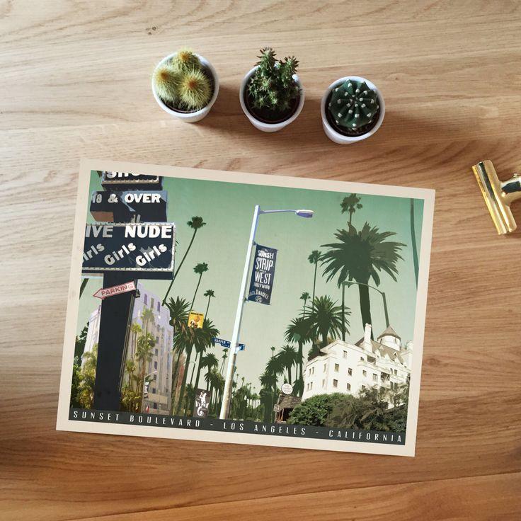 Sunset Boulevard, Hollywood, Los Angeles California. Mid Century Modern, Travel…