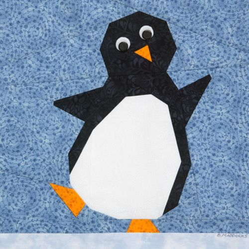 penguin quilt block   : Penny Penguin by Beth Maddocks, appears in Quiltmaker's 100 Blocks ...