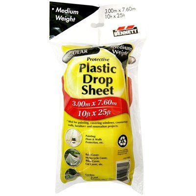 Bennett Medium Weight Plastic Drop Cloth Sheet