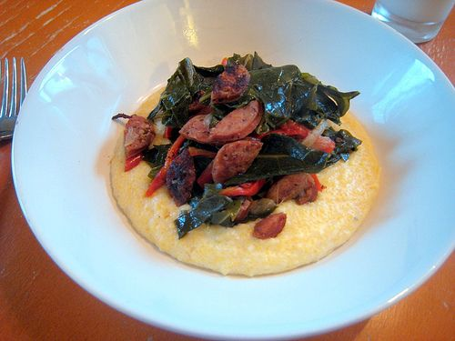 Sauteed Andouille and Grits | Cooking | Pinterest