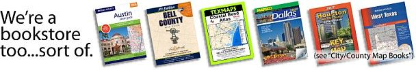 http://www.texasmapstore.com Texas Map Store is your one source for all your Texas mapping needs.  Map Books, wall maps, topographic maps, lake maps, historical maps, street maps, we have it all!