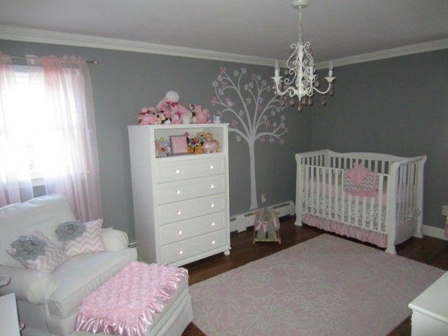 cuartos para bebes nia habitaciones grises de beb habitaciones de beb nia nias beb habitacin de beb cunas blancas paredes grises - Habitaciones Nias