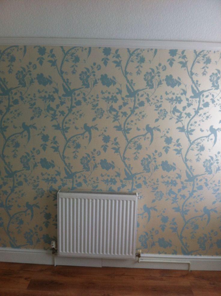 Laura ashley wallpaper walls ceilings and doors for Eau de nil bedroom ideas