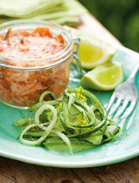Wild salmon tartare with cucumber and dill