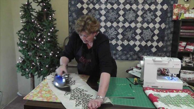 Make a Christmas Table Runner Using the Half-Hex Ruler