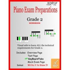 Piano Exams- Grade 2 now updated with learn chords with keyboardtabs.  Now 30 pages!  www.pianoscales.ca