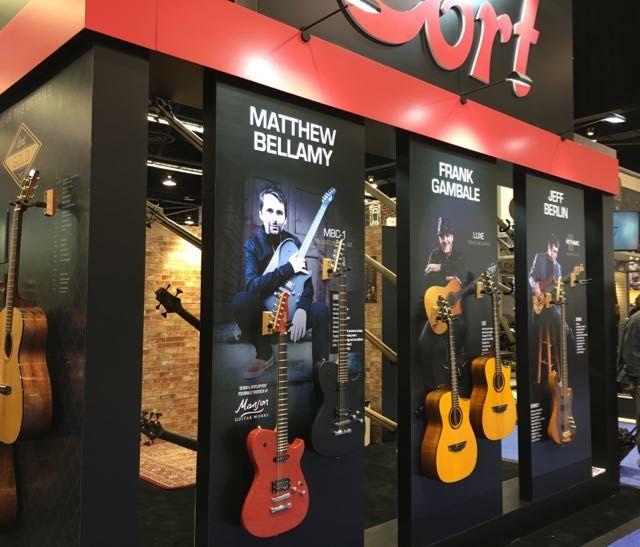 Cort Guitars at this year's 2017 NAMM Show