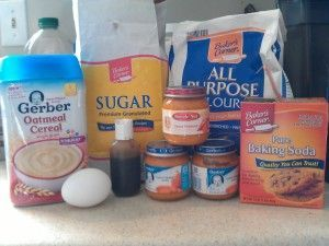 Yummy Toddler Sweet Potato Baby Food Muffin Recipe (use other brand than Gerber for cereal).