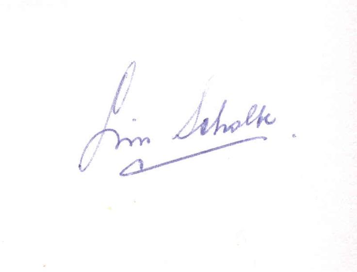Handtekening van Lin Scholte.