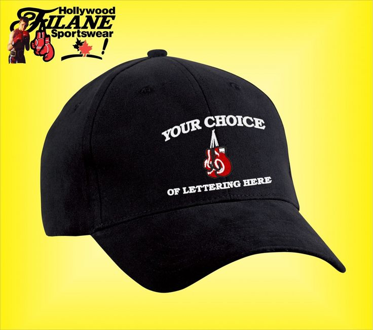 Personalized Boxing logo Hat - Hollywood Filane Create a personalized custom boxing hat with your name, gym, nickname or Championship.