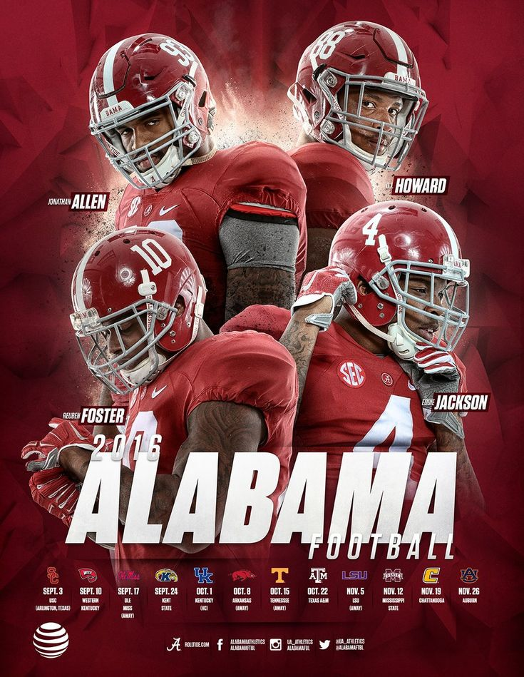 Image result for alabama schedule posters