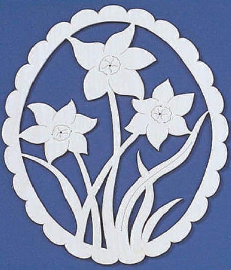 Frühjahr Narzissen Fretwork Pattern