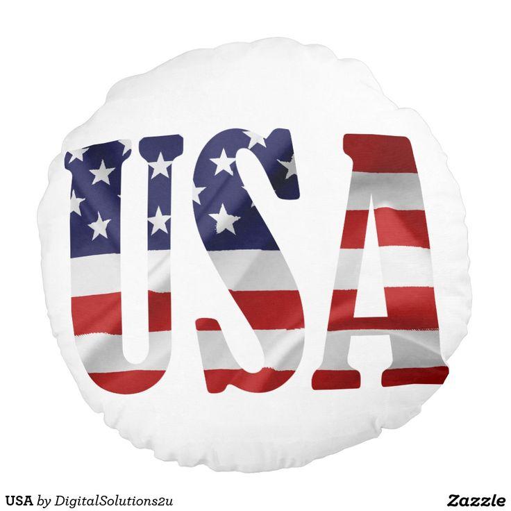 USA ROUND PILLOW