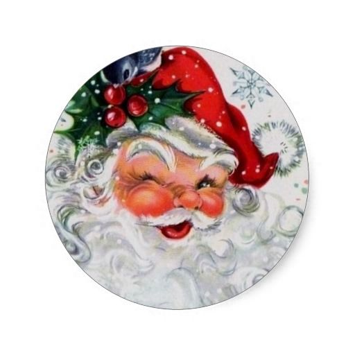 Vintage Christmas Santa Stickers