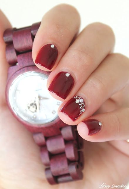 ▲▼▲ Coco's nails ▲▼▲: Burgundy with JORD