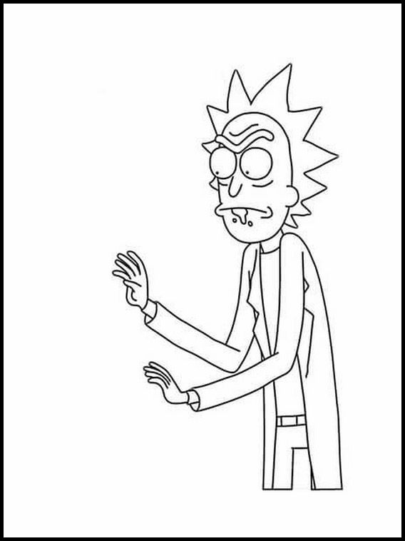 Rick And Morty 1 Printable Coloring Pages For Kids Rick And Morty Rick And Morty Image Cat Coloring Book