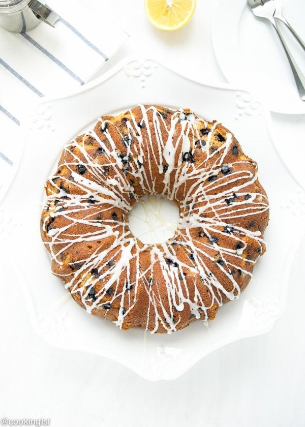 This Lemon Blueberry Bundt Cake is a refreshing dessert with a nice hint of lemon and packed with blueberries. Great for the holidays.