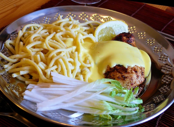 Maroccon style chicken fillet with thick and tangy lemon sauce.