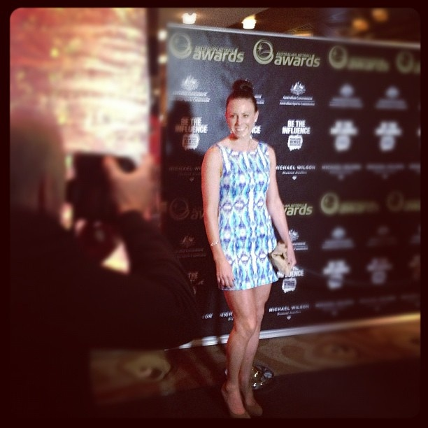 2012 ANA Dinner: Nat Von Bertouch looking glam on the red carpet.