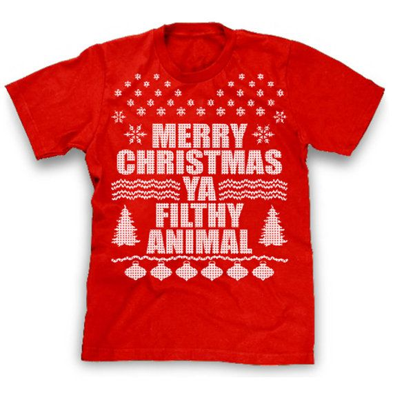 Merry Christmas Ya Filthy Animal Shirt Ugly by CharmCityTees, $13.99