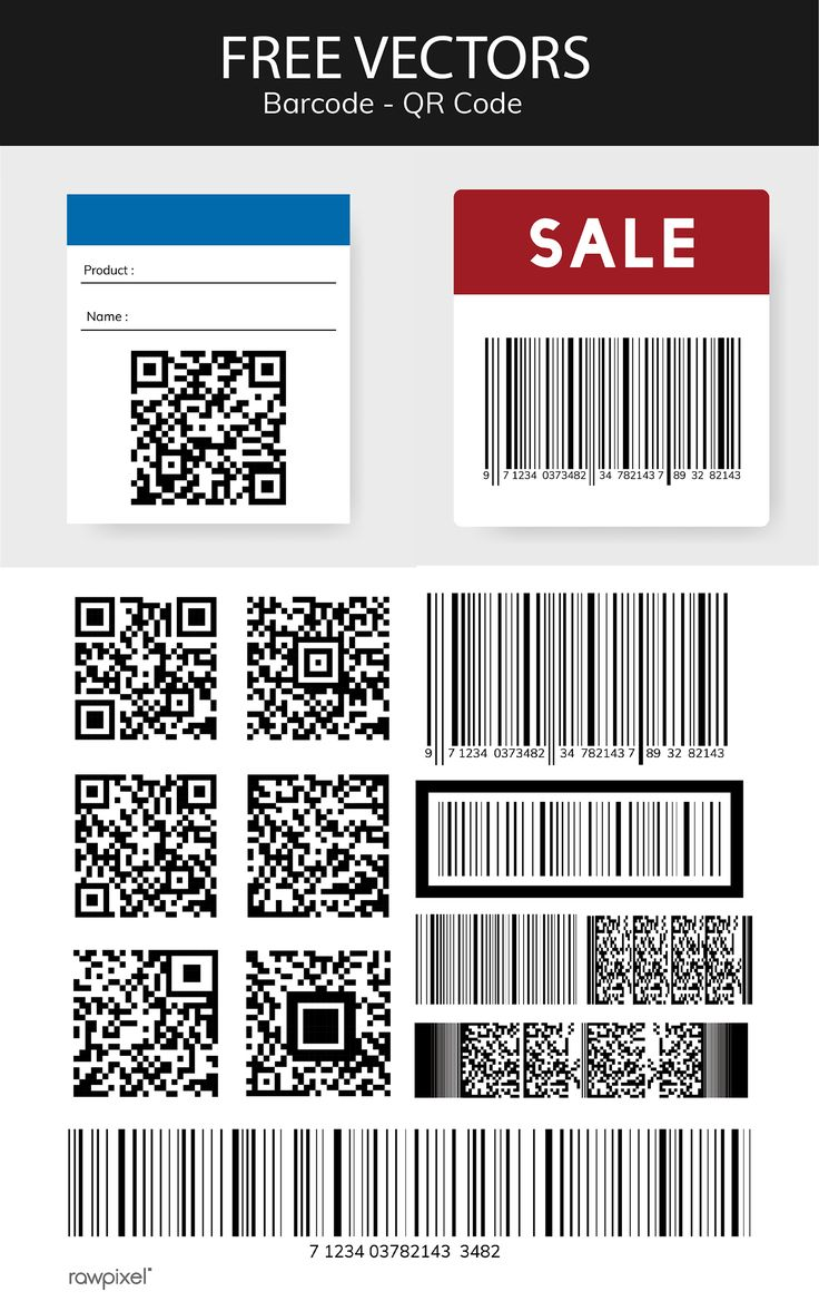 Download this set of barcode and QR code vectors, as well