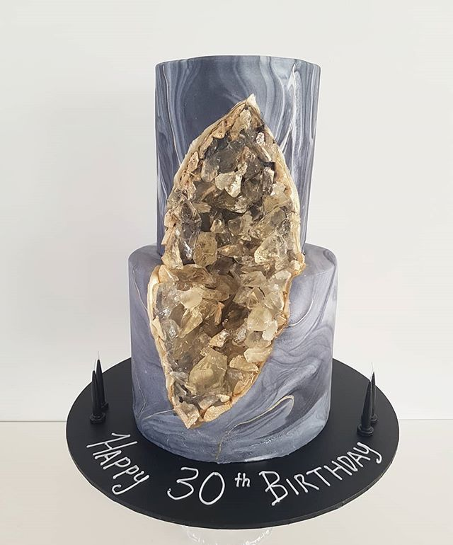 Hi Cakies... So proud of this one! A Geo cake for a geologist! Happy Birthday!  www.redapron.com.au