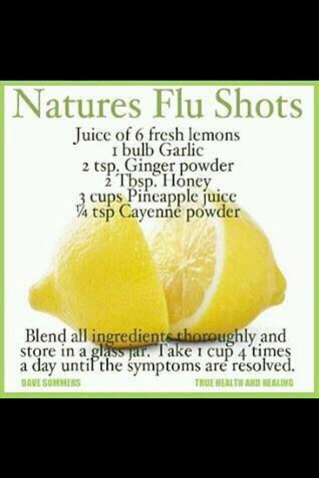 Use Juicer to make Nature's Flu Shots..
