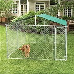 ALEKO® 10x10 Pet Kennel Waterproof Roof Cover #Dog_Kennel Roof Replacement.  http://www.alekoproducts.com/ALEKO-Dog-Kennel-Cover-10-x-10-p/dkc10x10-ap.htm