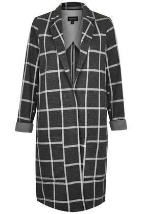 Light Check Boyfriend Throw On Coat - This Is England  - Clothing