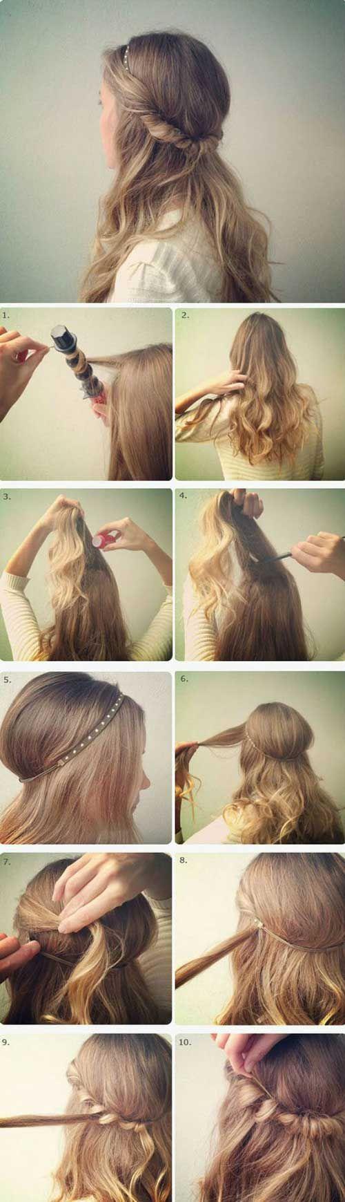 como fazer cabelos anos 60 com tiara