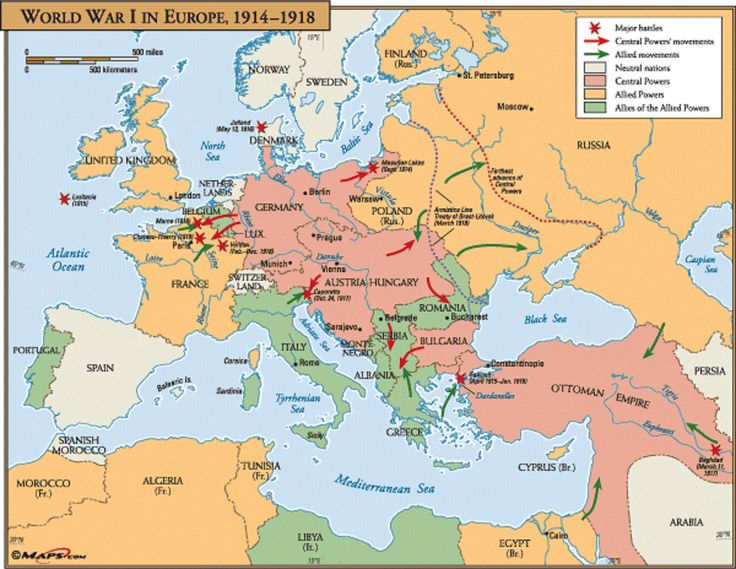 The Great War Invasion Map WWI Pinterest Wwi - Europe map world war 1914