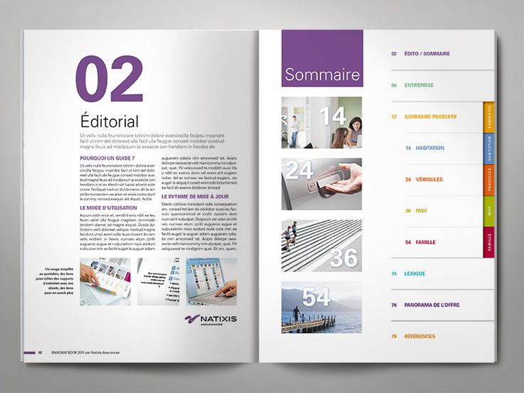 Table des mati res design recherche google documents promotionnels pinterest layouts - Exemple table des matieres ...