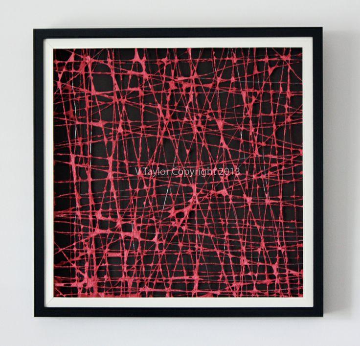 The Paperer Box Frames Colour: Red Artwork Size: 52.5cm x 52.5cm x 4.5cm