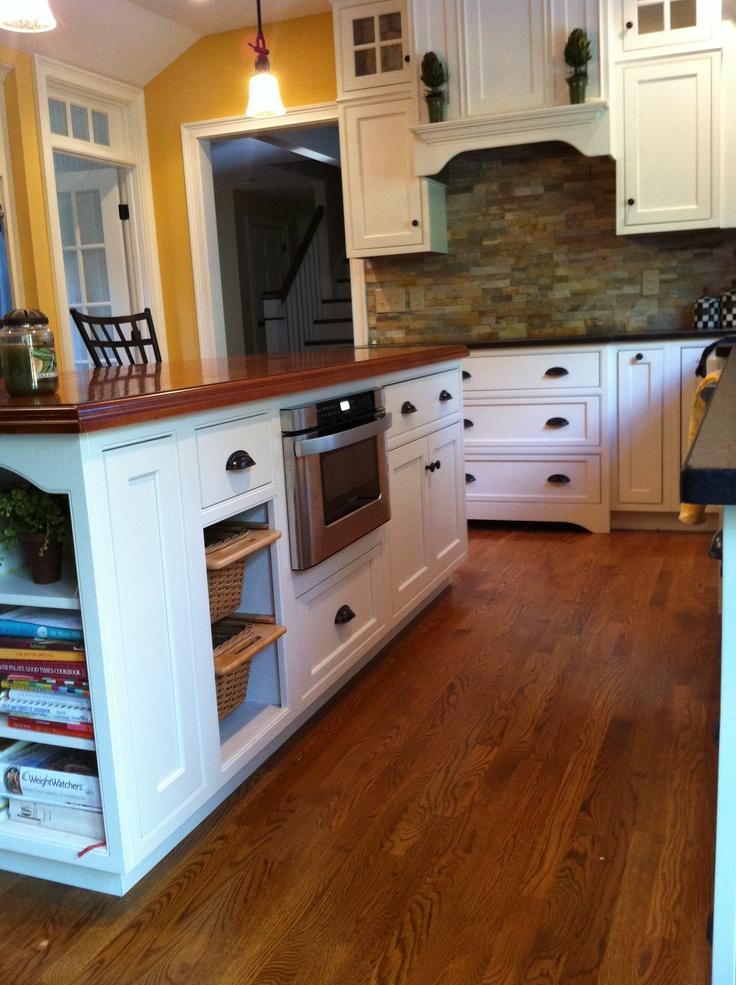 White Kitchen Island With Black Granite Top: White Kitchen, Beaded Inset, Shiloh Cabinetry, Kodiak