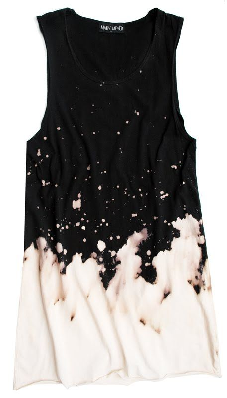 A simple jersey tank dress in 100% preshrunk cotton with a great looking dye removal pattern.