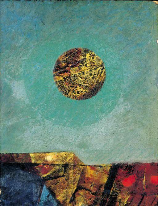 Paysage avec lune, huile de Max Ernst (1891-1976, Germany)