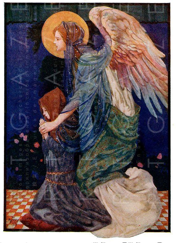 The Guardian Angel Striking Art Nouveau Angel