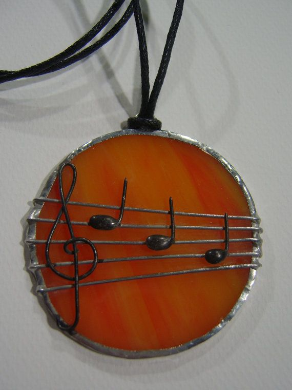 Tiffany Stained Glass  Pendant - stave