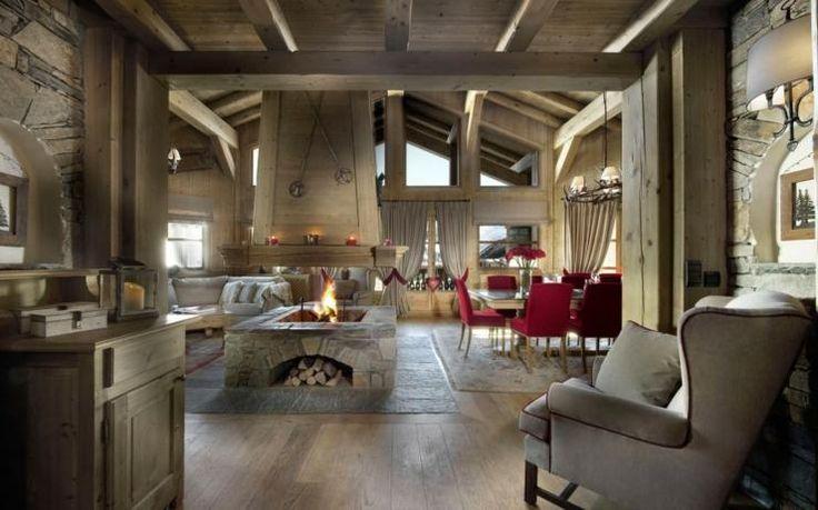 Beau chalet de luxe courchevel foyers et chalets for Decoration interieur chalet
