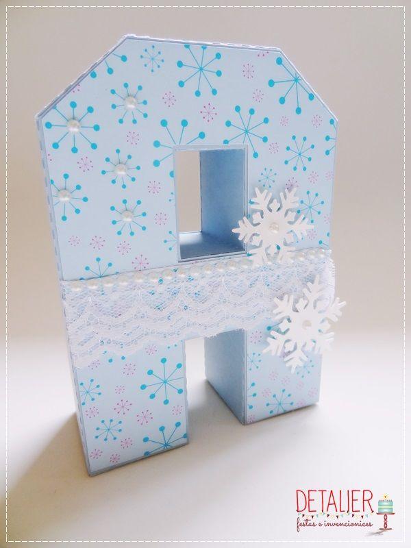 letras 3D para decoração no tema Frozen