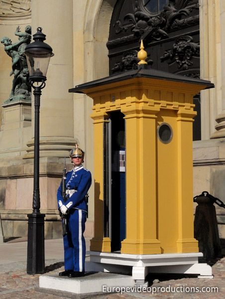Royal Guard in front of the Royal Palace in Stockholm in Sweden